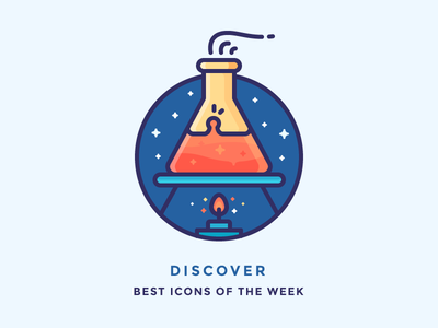 Best icons of the week! flask illustration heat chemicals boil experiment test tube tube chemistry filled outline icons