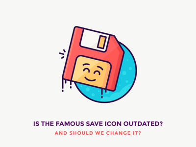 Do we need a new Save Icon?! happy floppy disk save as emoji smile save floppy illustration filled outline icons