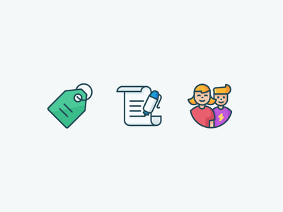 Kalo Icons kalo couple letter people write product tag price tag illustration iconography icons outline
