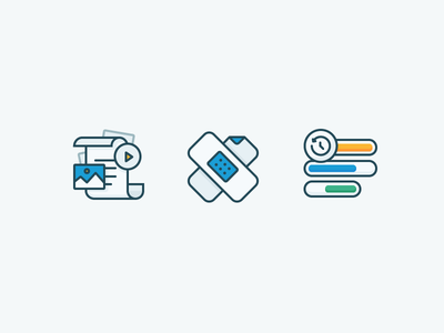 Kalo Icons illustration outline strapping plaster portfolio iconography icons