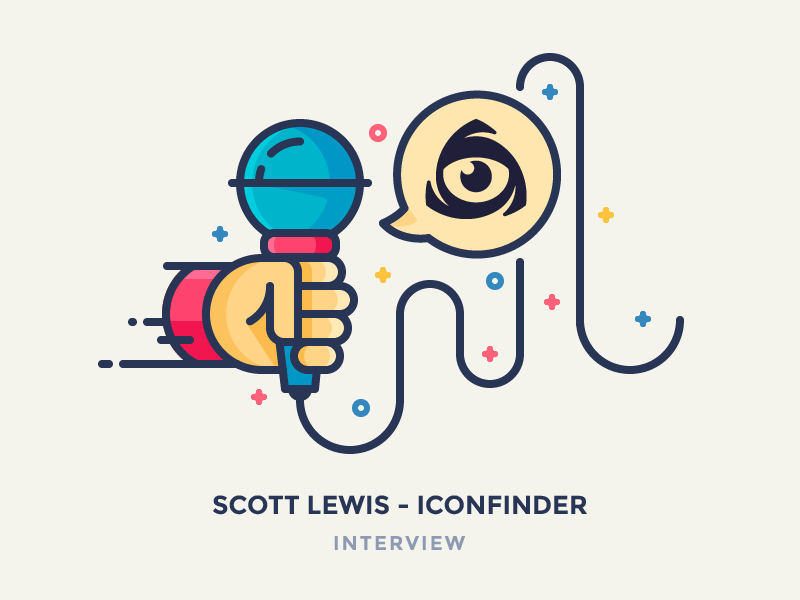 Scott Lewis - Interview eye chat bubble chat interview wire hand mic microphone iconfinder illustration icon outline