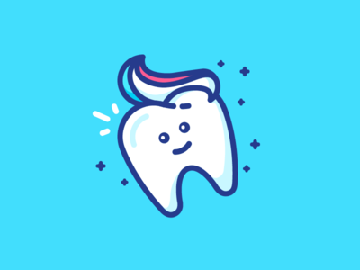Happy Tooth! dentist emoji face happy tooth paste illustration filled outline icon teeth tooth