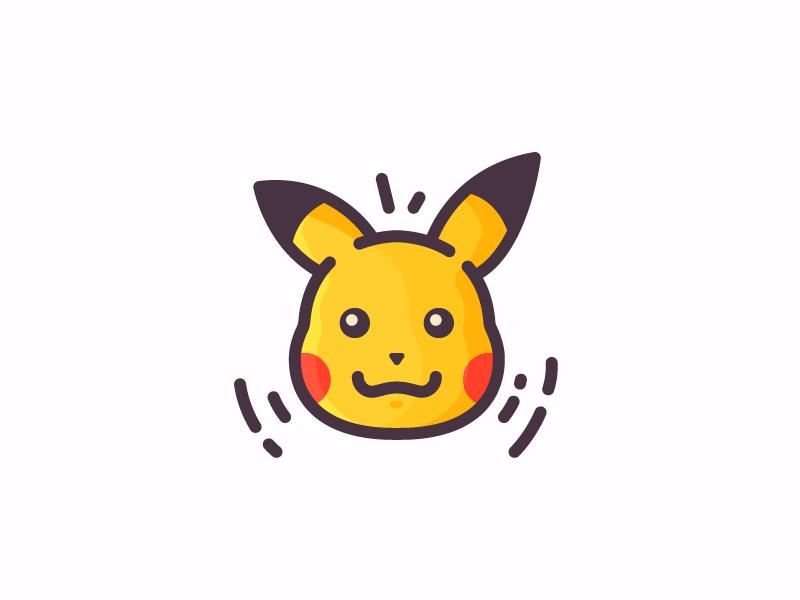 Pikachu! filled outline illustration icon pikachu pokemon go pokemon