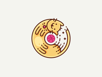 Purrfect Kitty! kitty spin fast ball round stickermule filled illustration icon outline dribbble cat