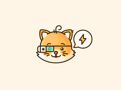 Product Hunt Kitty! tech chat glass google illustration outline icon lightning hunt product kitty cat