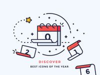 Best Icons Of The Year 2016 2016 schedule paper star planning new year calendar outline illustration icon