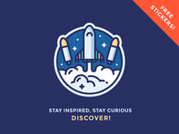 """Discover"" Sticker Giveaway!"
