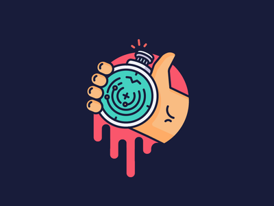 Best Icons of the Month! holding navigation discover liquid dragon ball radar hand illustration outline icon