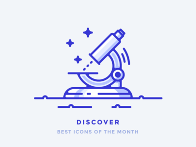 Best Icons of the Month! look scientists microbes research science medical discover microscope outline illustration icon