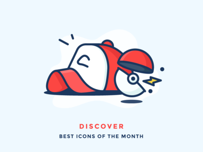 Best Icons of the Month! pikachu ash lightning ball cap pokemon illustration outline icon