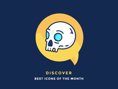 Best Icons Of The Month! discover dead skeleton head pirate illustration outline icons skull