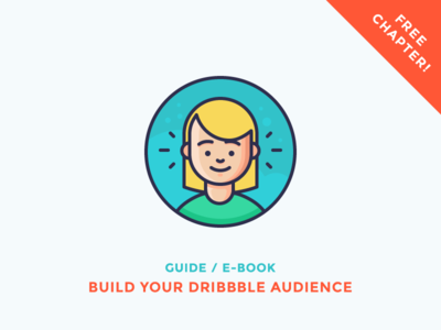 Build your Dribbble audience! happy smiling woman character emoji hearing avatar girl dribbble illustration outline icon