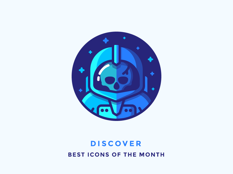 Best Icons Of The Month! spaceman cosmonaut cosmos stars astronaut spacesuit space dead skull illustration outline icon