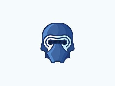 Kylo Ren! death star star wars character evil helmet mask kylo ren ren kylo illustration outline icon