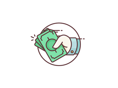 Get Some Money! spend get money buy pay hand cash refund give money illustration outline icon