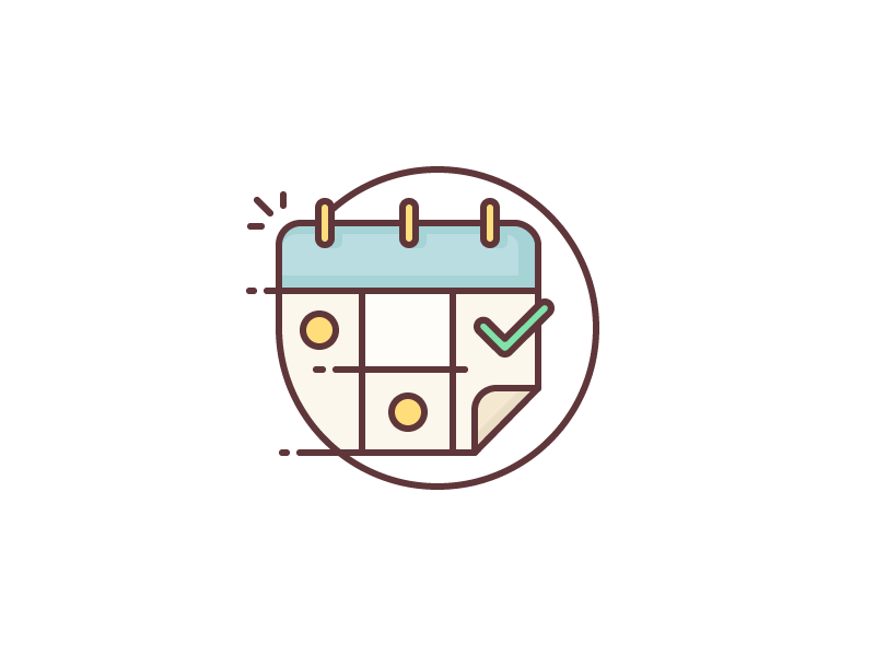 Save the Date! launch deadline save the date check day month year date illustration calendar outline icon