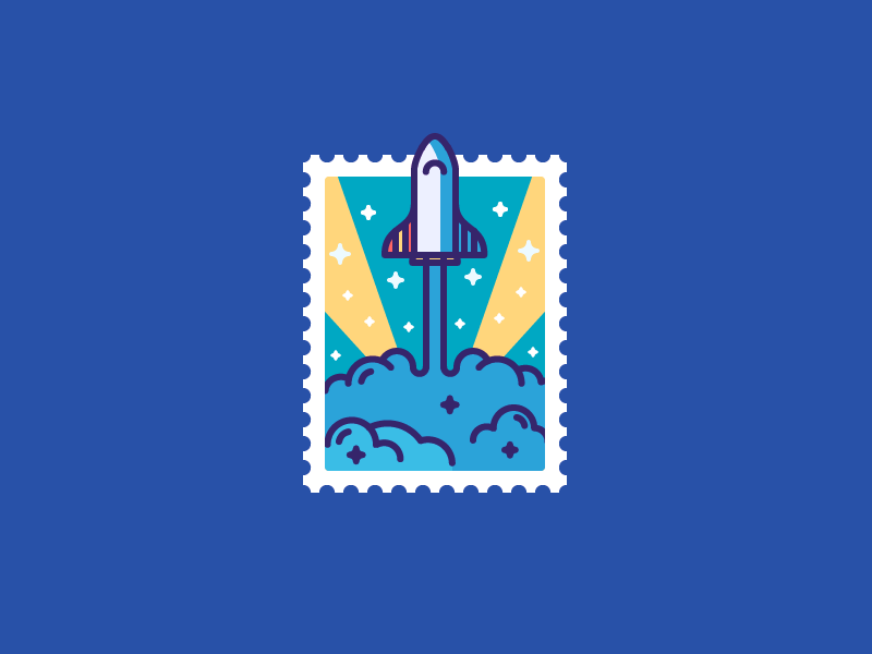 Best Icons Of The Month! post stamp stars spacex musk liftoff space launch rocket illustration outline icon