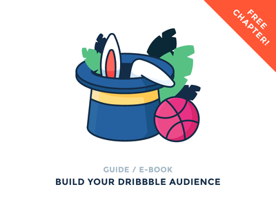 Magic Trick! ball dribbble plant miracle trick magic top-hat bunny rabbit illustration outline icon