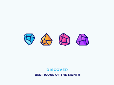Diamonds - Best Icons of the Month! ice jewel gem treasure jewellery ruby brilliant rock diamond illustration outline icon