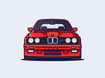 BMW M3 automotive headlights fast e30 sports auto m3 bmw car illustration outline icon