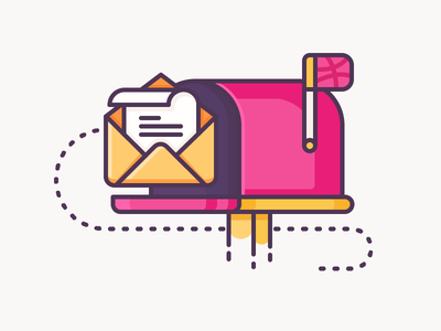 Dribbble inbox work inquiry envelope message letter dribbble mail email post inbox illustration outline icon