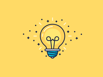 Lightbulb moment! bright electric electricity shine sparks idea bulb lightbulb light illustration outline icon