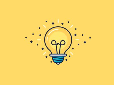 Lightbulb moment! bright electric electricity shine sparks idea bulb lightbulb light illustration outline icon
