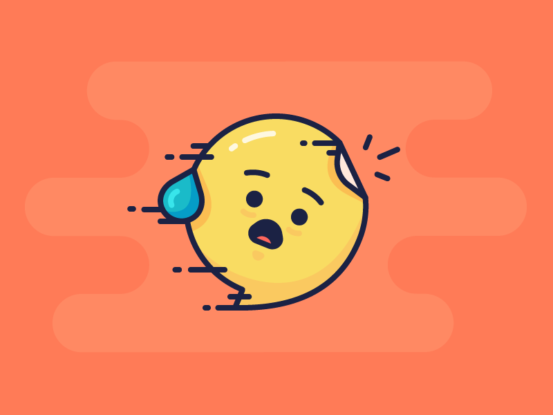 Best Icons Of The Month! face flying fast speech bubble sticker surprised shocked emoji illustration outline icon