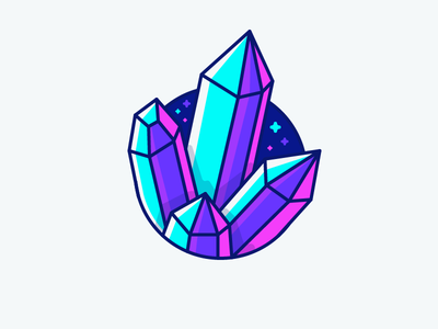 Best Icon of the Month! expensive neon treasure shining crystal diamond illustration outline icon