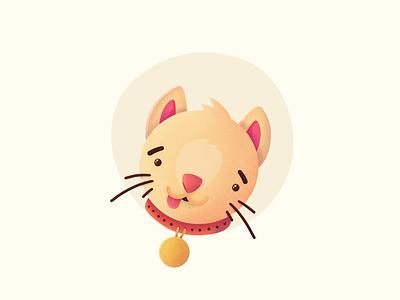 Special Kitty emoji tongue silly stupid cat kitty procreate illustration icon