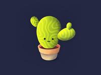 Cute Cactus! home interior decor face smile emoji plant flower pot cactus cute illustration icon