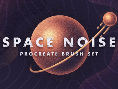 Space Noise - Procreate Brush Set! texture grain noise procreate brushes procreate app brushes planet cosmos satellite space procreate illustration icon