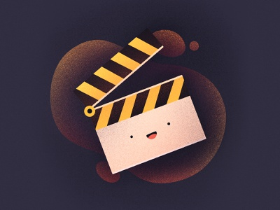 Movies! smiling fun character emoji face happy tv production filming recording cinema tv movie illustration icon