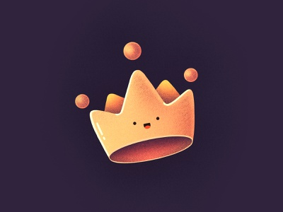 👑👑👑 gold queen king happy character smile face emoji crown illustration icon