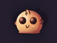 Blob! alien animal creature ball smiling blob emoji funny face character illustration icon