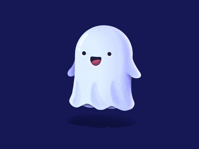 Friendly Ghost procreate happy smile face character emoji hounted friendly boo ghost illustration icon