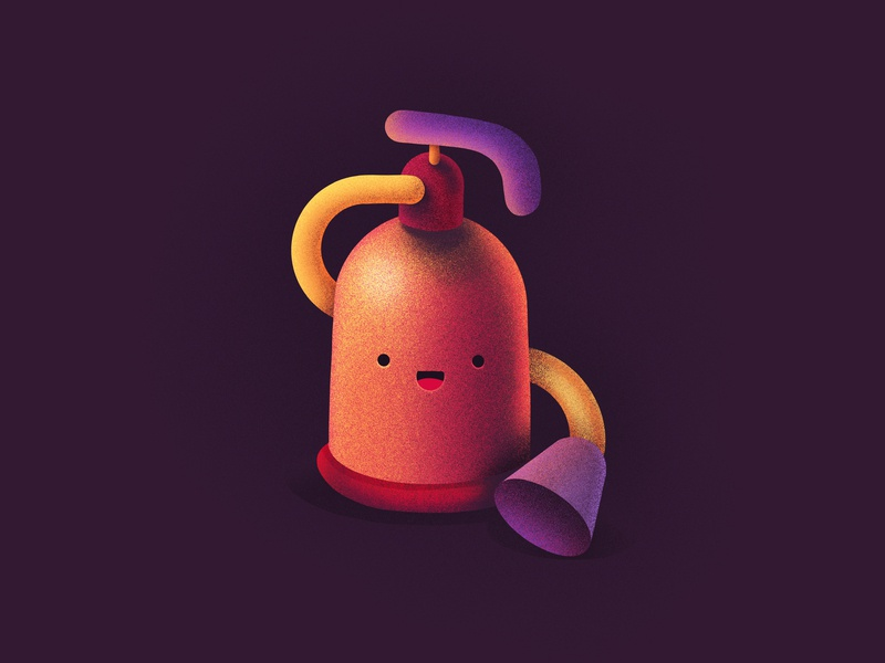 Fire Extinguisher cute happy smiling face emoji character fire man fire department burning flames fire extinguisher extinguisher fire procreate illustration icon