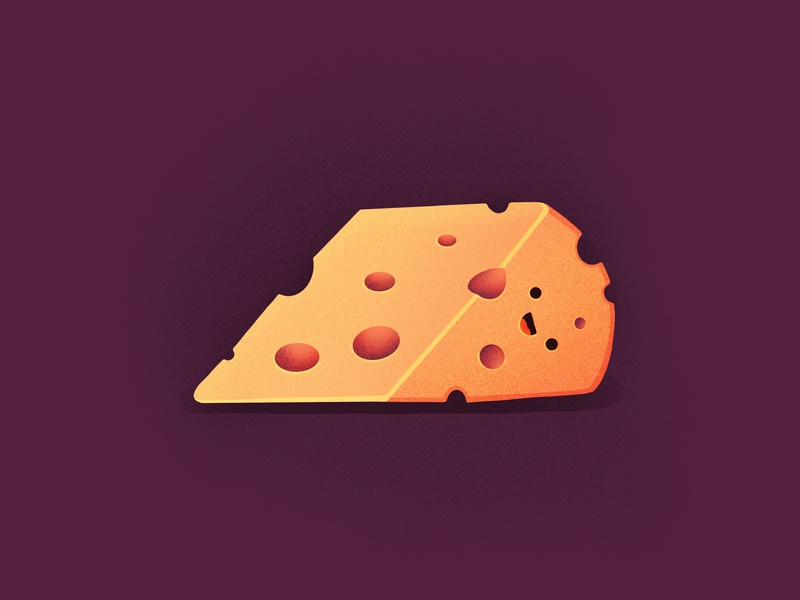 Cheese! smiling happy face mouse delicious tasty food character emoji cheese illustration icon
