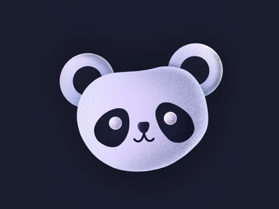 Panda! cute zoo fun happy smiling bear animal character face panda illustration icon