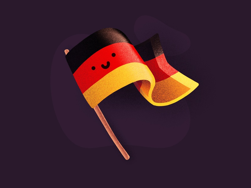Dribbble meetup - Berlin! cute happy smile character face emoji berlin germany flag meetup dribbble illustration icon