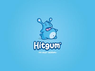 Hitgum logo toy arts crazy animal illustartion logo monster