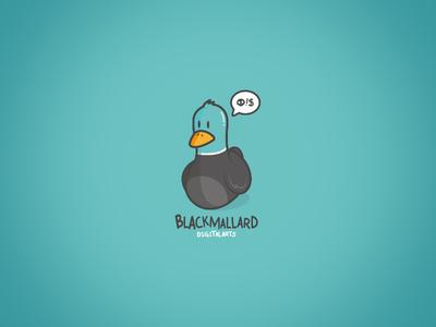 BM COMIC puppet comic azul bird animal illustration black mallard duck