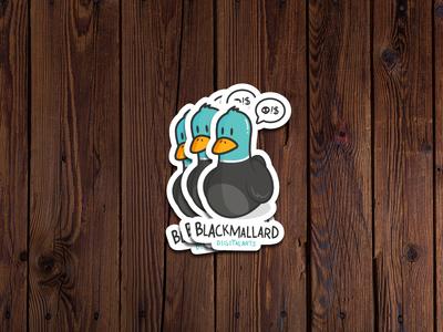 Stikers comic Blackmallard comic mockup stikers duck blackmallard