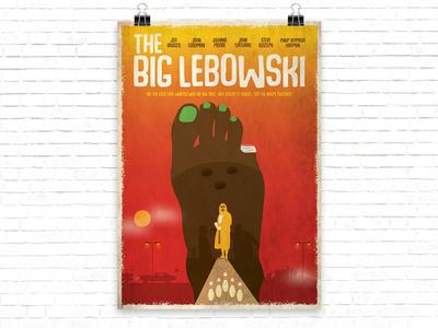 Big Lebowsky Poster artmovie big lebowsky movie poster