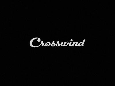 Crosswind  © logotype lettering crosswind custom