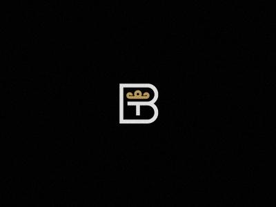 BT © monogram fashion brand design crown style minimal