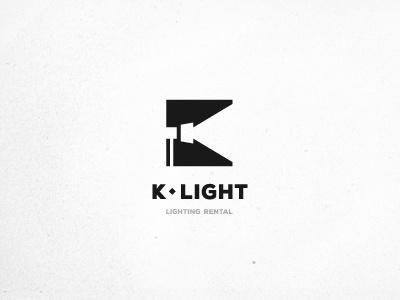 K-LIGHT © spotlight light k letter logo equipment lighting system positive muamer adilovic design