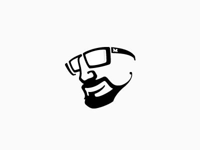Muamer Adilovic logotype © clean minimal muamer adilovic logotype personal logo type face typography calligraphy graphic design simple smile :) self-portrait portrait