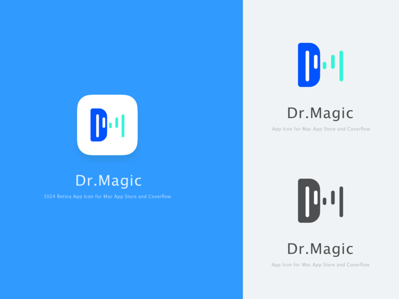 Dr.magic logo design logo mac app branding mac ui