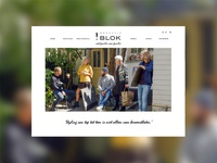 Modehuisblok website design